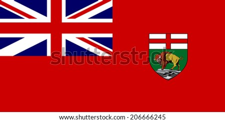 An Illustrated Drawing of the flag of Manitoba - stock photo