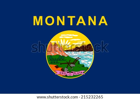 An Illustrated Drawing of the flag of Montana state (USA) - stock photo
