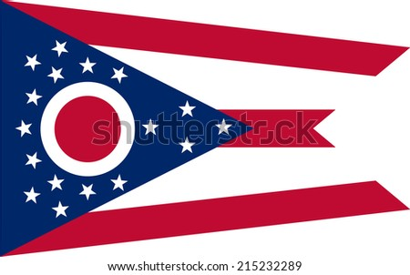 An Illustrated Drawing of the flag of Ohio state (USA)  - stock photo
