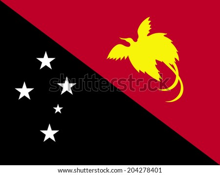 An Illustrated Drawing of the flag of Papua New Guinea - stock photo