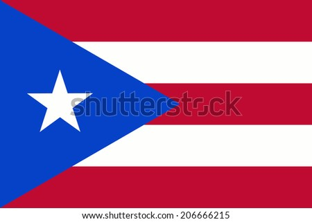 An Illustrated Drawing of the flag of Puerto Rico  - stock photo