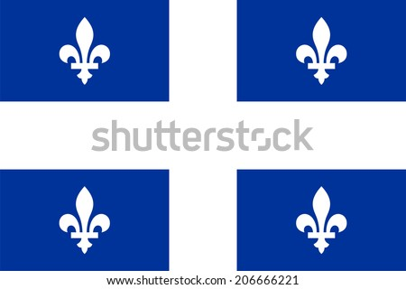 An Illustrated Drawing of the flag of Quebec