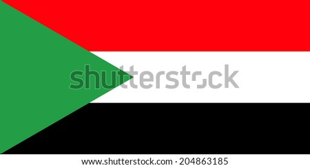 An Illustrated Drawing of the flag of Sudan  - stock photo