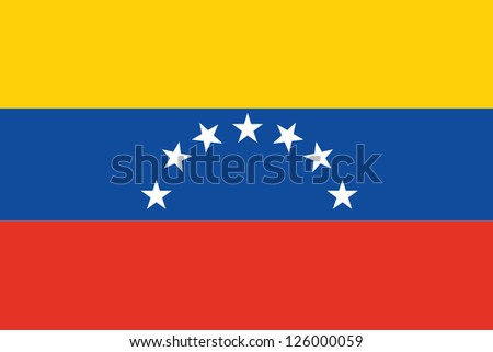 An Illustrated Drawing of the flag of Venezuela - stock photo