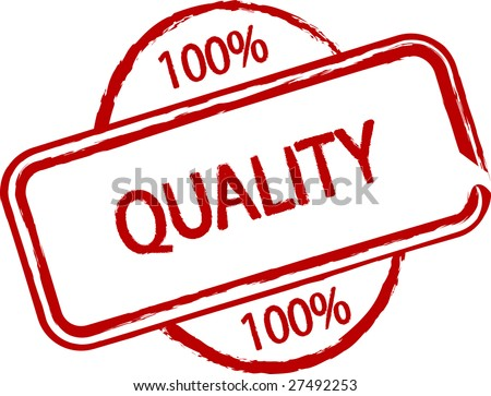 An illustrated stamp that declares a premium quality. All on white background. - stock photo