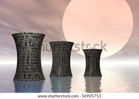 An illustration concept of global warming on earth - stock photo
