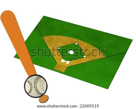 an illustration for baseball - stock photo