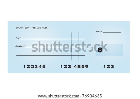 An illustration of a blank bank check