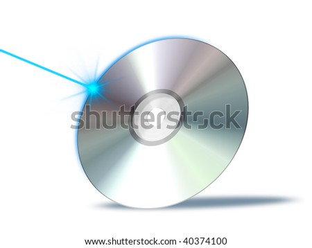 An illustration of a bluray dvd cd rom - stock photo