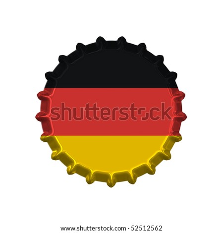 An illustration of a bottle cap with a country sign germany - stock photo