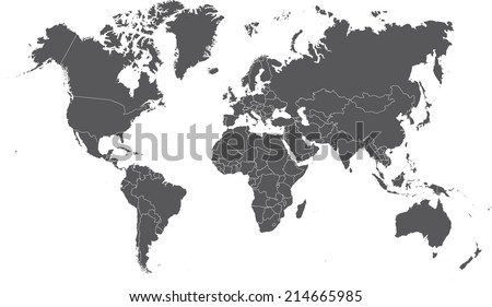 World Map Countries Outline Stock Images RoyaltyFree Images - World map outline with countries