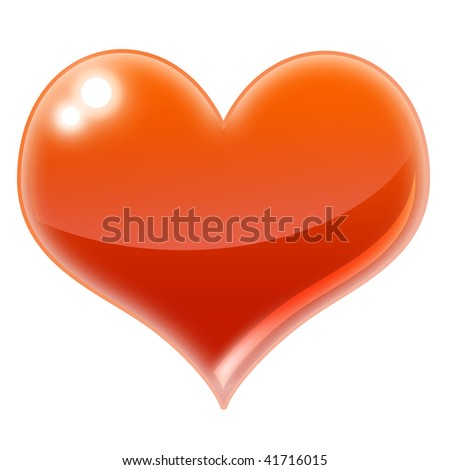 An illustration of a glossy Heart - stock photo