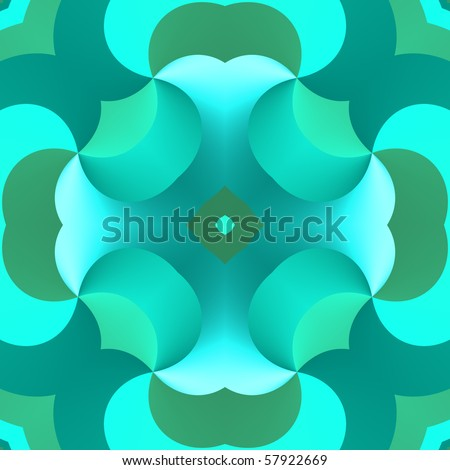 An illustration of a retro wallpaper design that will repeat seamlessly - stock photo