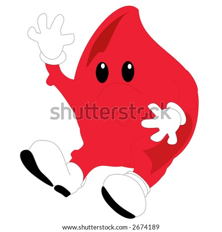 An illustration of a toon blood drop - stock photo