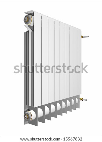 An illustration of a white heater - stock photo