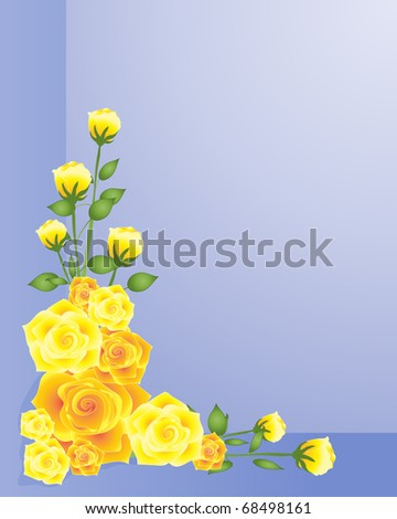 Long stem yellow roses Stock Photos, Illustrations, and Vector Art