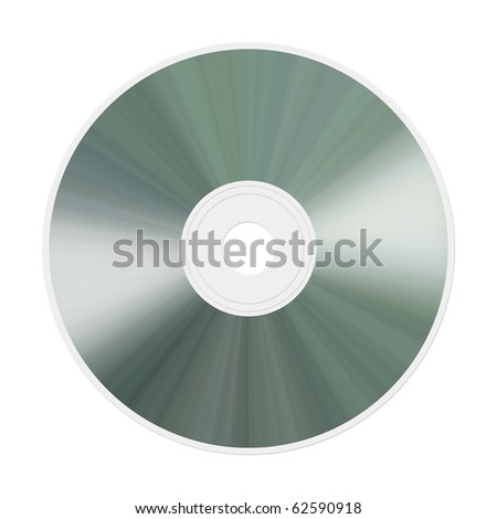 An illustration of an isolated realistic compact disc - stock photo