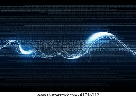 An illustration of data stream. - stock photo