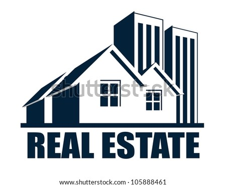 An illustration of real estate icon - stock photo
