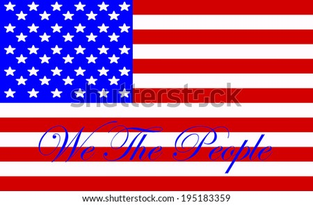 The Preamble of Constitution of the United States Clip Art