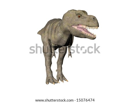 An illustration of the dinosaur Tyrannosaurus Rex