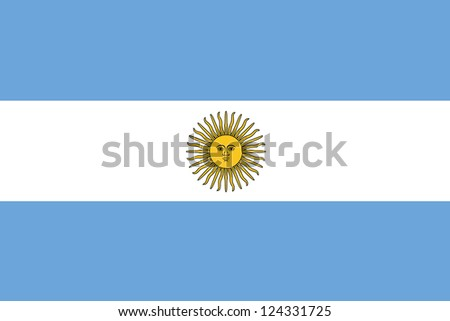 An illustration of the flag of Argentina - stock photo