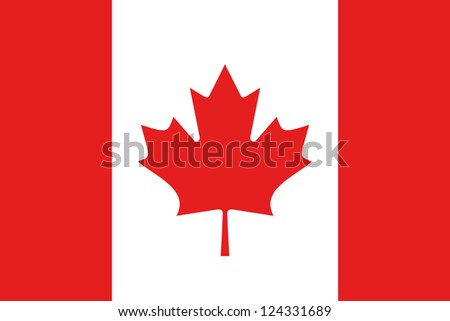 An illustration of the flag of Canada - stock photo