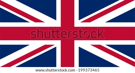 An illustration of the flag of Great Britain - stock photo