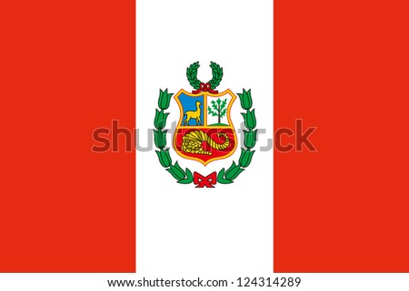 An illustration of the flag of Peru - stock photo