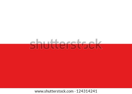 An illustration of the flag of Poland - stock photo