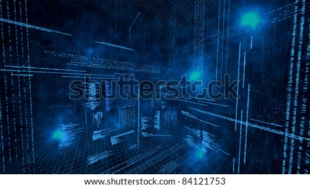 An illustration of virtual data - stock photo