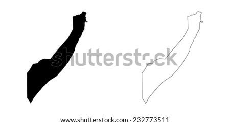 An Illustration on a White background of Somalia - stock photo