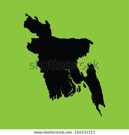 An Illustration on an Green background of Bangladesh