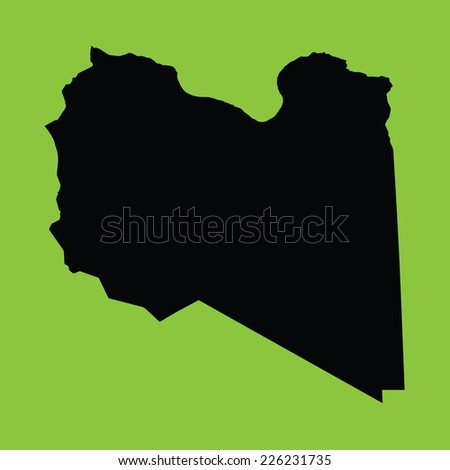 An Illustration on an Green background of Libya
