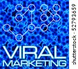 An illustration or diagram demonstrating viral marketing with 3D cells and a flow chart. This image tiles seamlessly as a pattern in any direction. - stock photo