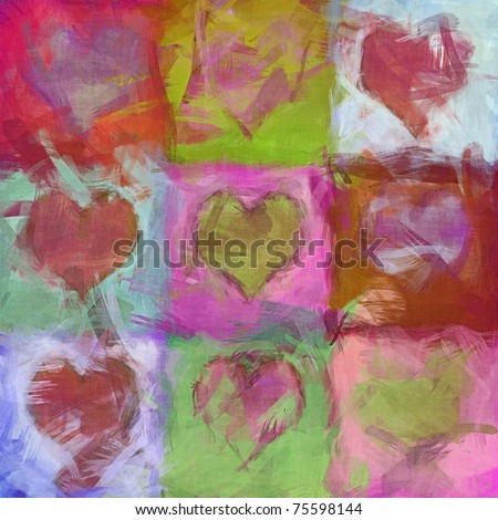 An image of a beautiful heart background - stock photo