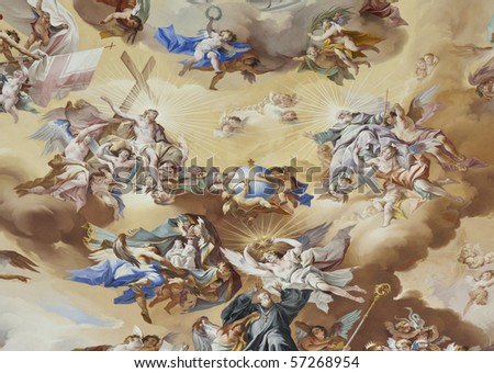An image of a beautiful religious fresco - stock photo