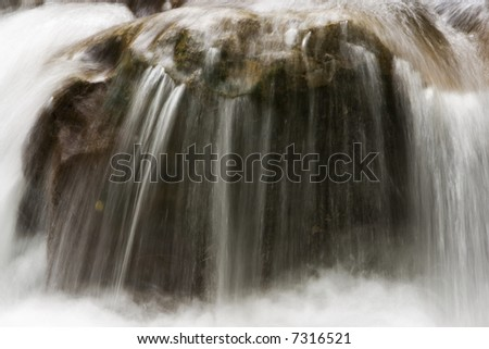 an image of a beautifull river in autumn - stock photo