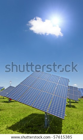 An image of a big solar plant
