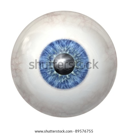 An image of a blue eye ball - stock photo