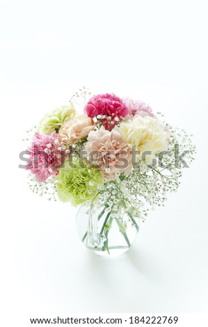 An image of a Bouquet of carnations