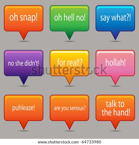 An image of a brightly colored messaging windows. - stock photo