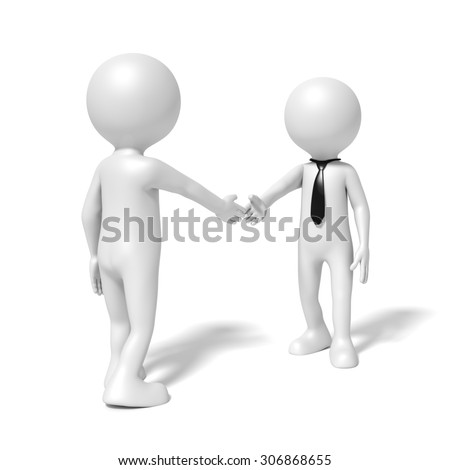 An image of a business people shaking hands - stock photo