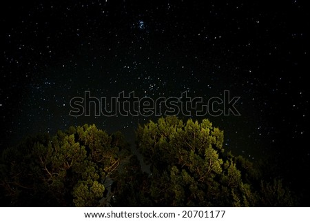 An image of a clear sky full of stars