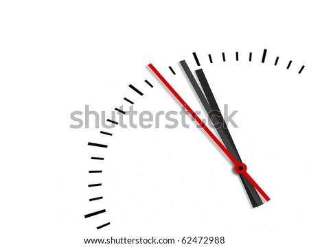 An image of a clock at twelve - stock photo