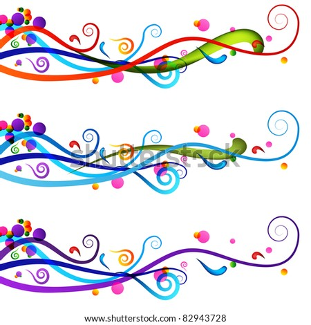 An image of a colorful festive celebration banner set. - stock photo