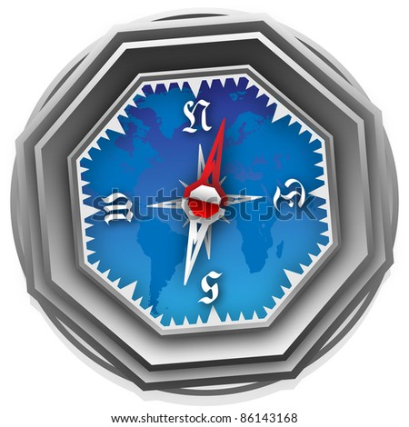 An image of a  Compass. Can be scaled  without problems and quality loss. - stock photo