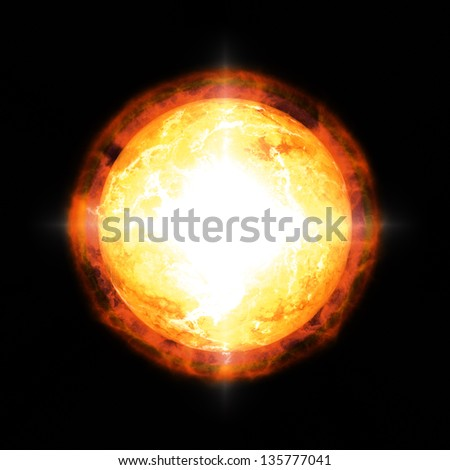 An image of a cool sun in space - stock photo