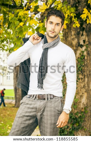 An image of a cool young man - stock photo