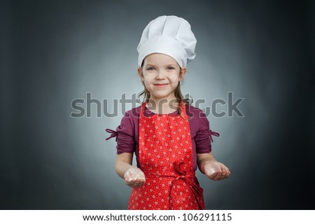 An image of a cute little chef - stock photo